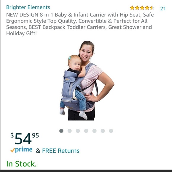 Brand New 8 In 1 Baby Carrier